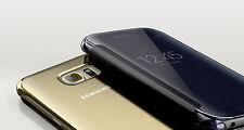 Genuine Samsung Galaxy S6 EDGE / SM-G925 Original CLEAR Flip Case Cover GOLD