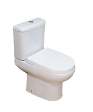 610 Modern Compact Short Projection Bathroom Close Coupled Toilet WC Soft Close