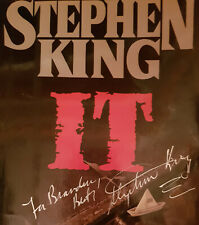 IT by Stephen King, hardback (DJ ONLY) **Signed**