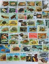 TURTLES & TORTOISES wonderful stamp collection made up of 50 different (lot #DP)