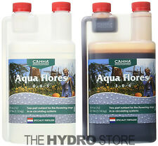 Canna Aqua Flores A & B 1 Liter Set - Hydroponic Nutrient Bloom Flower 1L