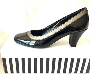 SANDRA LEE Styled In Italy CHIC 'SHANTELLE' PATENT LEATHER PUMPS Sz 7 RRP$149.95