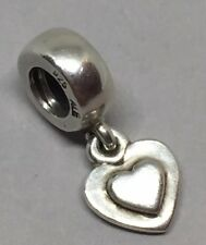 AUTHENTIC PANDORA 925 ALE SILVER DANGLE DROP DOUBLE HEART CHARM 790373