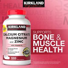 Kirkland Signature Calcium Citrate Magnesium & Zinc w/ Vitamin D3, 500 Tablets