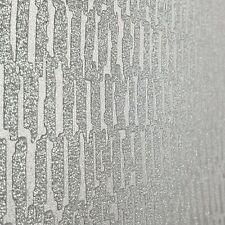 Glitter Monaco Horizontal Textured Gray Silver Wallpaper Shiny Metallic Modern