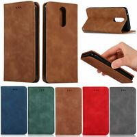 Luxury Matte Leather Flip Wallet Case Cover For LG K40 G8 G8S V50 Stylo4 Stylo 5