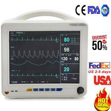 Portable ICU CCU 6-Parameter Patient Monitor System NIBP SPO2 ECG TEMP RESP PR