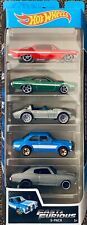 Hot Wheels 2019 Fast & Furious 5 Pack Set Movie Impala Corvette Escort Chevelle