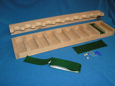 10 gun - wood closet gun rack with floor rest - Solid Oak