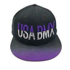 NEW KB ETHOS USA BMX Snapback Hat Black Purple Color Shift Freestyle Bike Cap