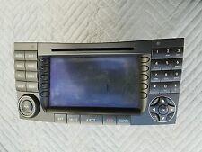 MERCEDES BENZ W211 03-07 E CLASS NAVI GPS RADIO HEAD UNIT DISPLAY SCREEN