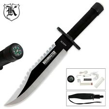 Bushmaster SAWBACK BOWIE Knife / Survival Knife - with Survival Kit - 13 1/2""