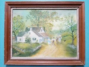Folk art painting by artist Sybil Holland