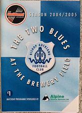 More details for bishop auckland v sunderland - mid season friendly 16/11/2004