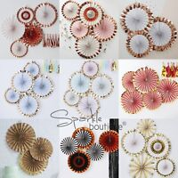 HANGING FAN DECORATIONS - Pinwheels in a Range of Designs / Colours -Party Decor