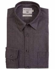 Camisas y polos de hombre de manga larga marrón gris