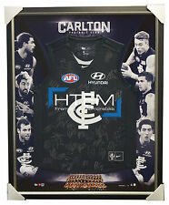 Carlton Blues 2017 Signed Official AFL Team Jumper Framed Cripps Murphy Gibbs