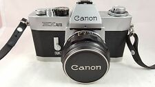 VINTAGE CANON EX AUTO QL 35mm FILM CAMERA W/ CANON 50mm f1.8 EX LENS