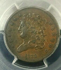 1832 Classic Head Half Cent PCGS XF45 Cert# 24254716