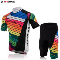 Inbike Team Men's Cycling Jersey Gel Pad Short Set MTB Bike Bicycle Clothing Set