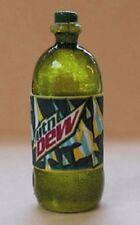 Dollhouse Miniature 2 Liter Bottle of Mountain Dew - 1:12 Scale