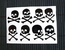 Kit 8 Adesivi TESCHI teschio skulls skull  auto moto scooter decal vynil casco