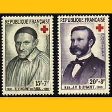 2 CROIX-ROUGE FRANCE 1958 N° Y&T 1187 et 1188 NEUFS **
