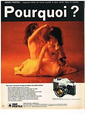 PUBLICITE advertising  1971   ASAHI  PENTAX    SPOTMATIC appareil photo