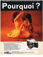 PUBLICITE  1971   ASAHI  PENTAX    SPOTMATIC appareil photo