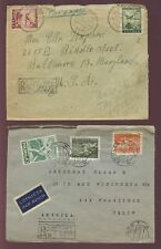POLAND 1946-57 REGIST.MULTI FRANKINGS to USA...4 COVERS
