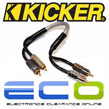 Kicker CAR AUDIO Proffesional 0,3 metros de Phono RCA Cables lleva 1 par de RCA