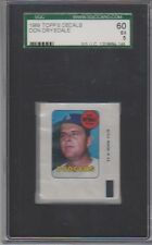 1969 Topps Decals Don Drysdale SGC 5 EX