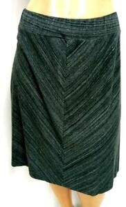 Ava & viv gray blended spandex stretch elastic waist pull on skirt 1X