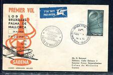 Israel Cover Special SABENA Flight LOD Brussel-Palma De Mallorca 24.4.19. x32924