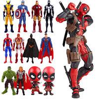 Marvel Avengers Deadpool Spiderman Wolverine Thor Model PVC Action Figures Toys