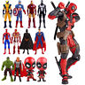 Toys Marvel Avengers Deadpool Super Hero Spiderman Action Figure Model Kids Gift