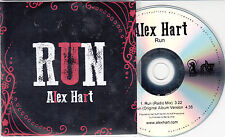 ALEX HART Run 2014 UK 2-track promo test CD