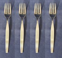 SET OF FOUR - Oneida USA Stainless Flatware  FROSTFIRE Salad Forks * USA