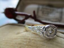 """VINTAGE SOLITAIRE DIAMOND RING , PLATINUM,  and GOLD ( 18 CARAT )  size """" O """""""