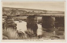 Devon postcard - Clapper Bridge, Postbridge, Dartmoor