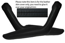 BLACK STITCHING 2X DOOR HANDLE ARMREST SKIN COVERS FITS TOYOTA CELICA 1976-1977