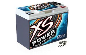 XS Power D545 800 Amp AGM Power Cell Car Audio Battery + Terminal Hardware
