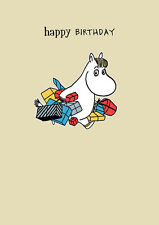 Moomin Snowmaiden with Presents Gifts Blank Birthday Card - FREE 1ST CLASS POST