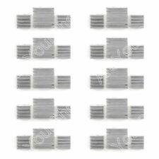 New 10Set 30PCS Aluminum Heatsink Cooler Kit Fit Cooling Raspberry Pi UE