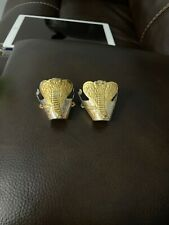 Vintage Western Boot Tips Cowboy Silver With Brass Accents New Cobras deadstock
