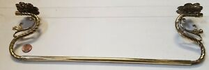 Cast brass towel railPan rack old vintage Kitchen French 520mm French c1920 wow