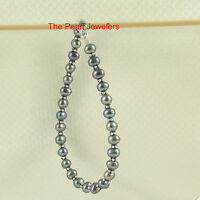925 Sterling Silver Bali Bead w/ Blue Cultured Pearl Bracelet or Anklet - TPJ