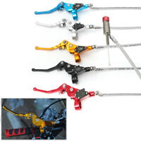 """7/8"""" Motocross Hydraulic Brake Clutch Lever Master Cylinder 90cm Cable Dirt Bike"""
