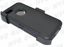 New For Iphone 5/5S/SE Defender BLACK Case Cover [Belt Clip Fits Otterbox]
