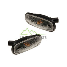 LAND ROVER DEFENDER TD5 CLEAR OVAL SIDE REPEATER INDICATOR LIGHTS & BULBS (PAIR)